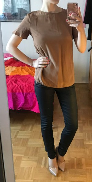 Beschichtete Jeans 32 XS schwarz Damen Coated Hose Skinny Röhrenjeans Denim & Co