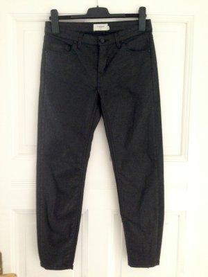 Beschichtete Jeans mit Zipper von Eleven Paris, W29 (Gr. 38/40)