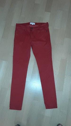 Beschichtete Jeans von MANGO, BELLE, Gr. 38 in leuchtend rot