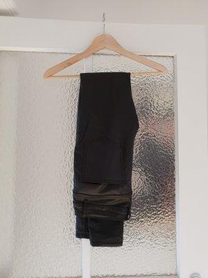 Beschichtete Skinny Hose Lederoptik
