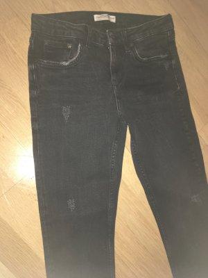 Zara Basic Jeans carotte noir
