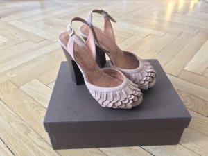 Chie Mihara Sandales à talons hauts et plateforme vieux rose