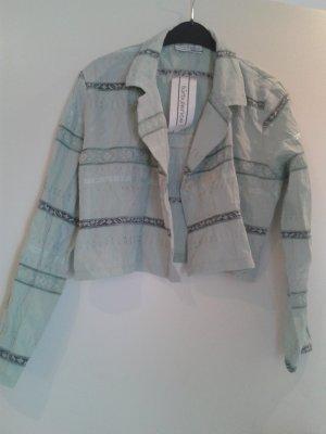 besondere wunderschöne leichte Jacke in angesagtem pastell grün / mint