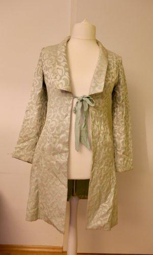 Besonderer Mantel: Mintgrün/ beige/ weiß, Rokoko, Größe L/ 42/44, Vintage