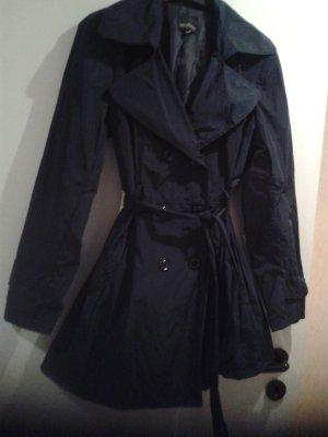 besonderer schöner Tranchcoat VESTINO / Jacke in dunkelblau - leicht changiert