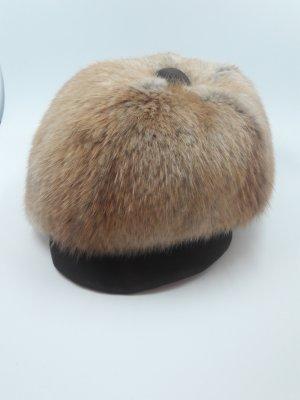 besonderer Vintage Hut aus echtem Fell und Leder