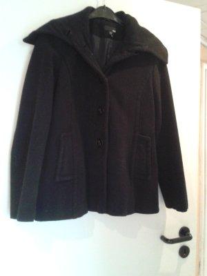 H&M Manteau court noir laine