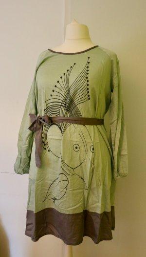 Besonderes Blusenkleid in mintgrün/ grau von Yppig, Größe 50/52
