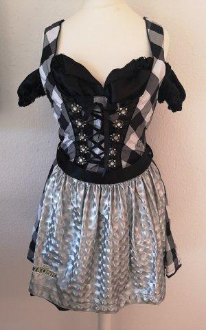 MarJo Vestido Dirndl negro-color plata