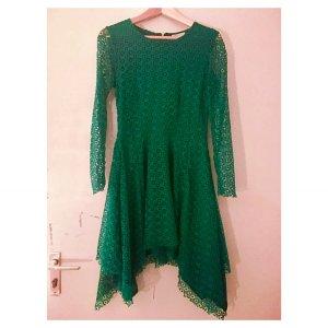 besonderes, grünes Lochmuster Kleid, Gr.36