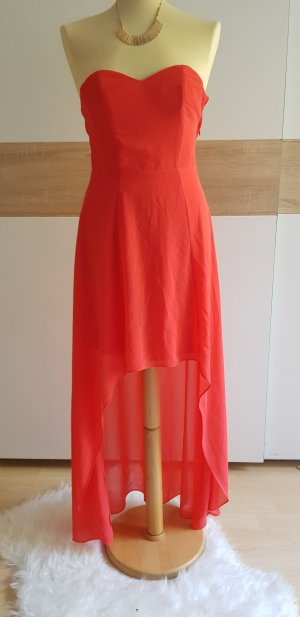 H&M High Low Dress bright red