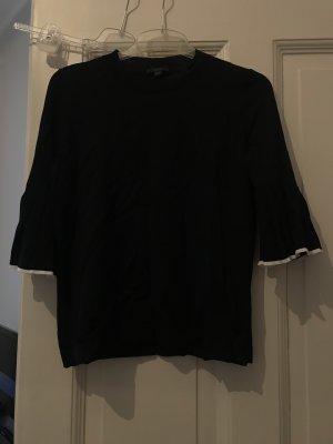 COS Short Sleeve Sweater dark blue-white