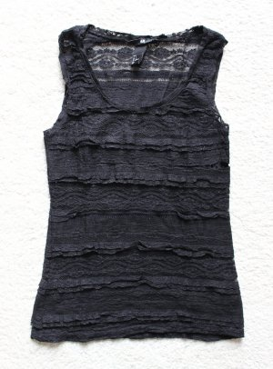 Besonderes Top in schwarz mit Spitzendetails