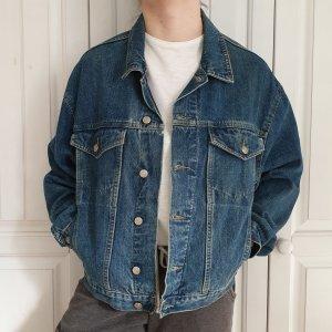 Best basic Jeansjacke Jeans jacke True vintage L oversize Blau Mantel dunkelblau