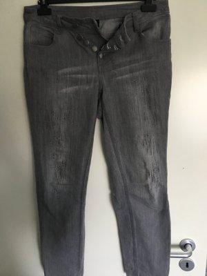 Best Connections Jeans cigarette gris