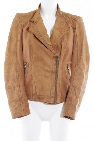 Best Connections Bikerjacke cognac Biker-Look
