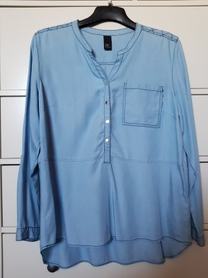 Best Connections Long Sleeve Blouse light blue lyocell