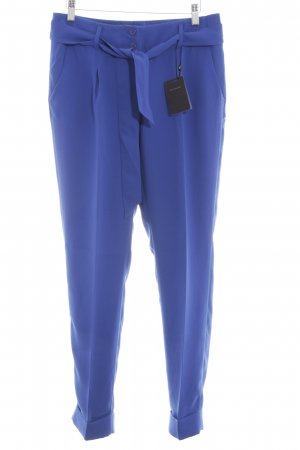 Best Connections Bundfaltenhose blau Casual-Look