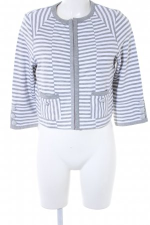 Best Connections Cardigan grey-white striped pattern casual look