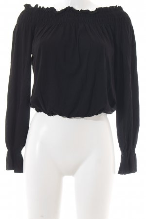 Best Connections Carmenshirt schwarz Boho-Look
