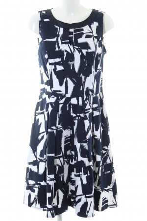 Best Connections Cocktail Dress black-white abstract pattern business style