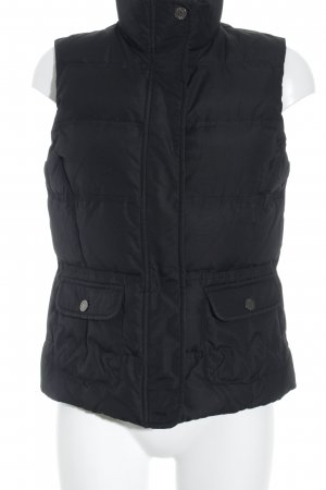 Best Connections Down Vest black quilting pattern casual look