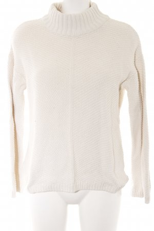 Best Connections Coarse Knitted Sweater cream casual look