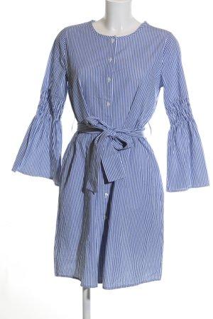 Best Connections Hemdblusenkleid blau-weiß Streifenmuster Business-Look