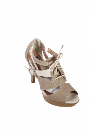 Best Connections High Heel Sandal oatmeal-beige color blocking nude look