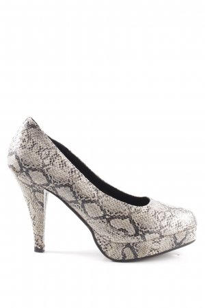 Best Connections High Heels black-natural white animal pattern extravagant style