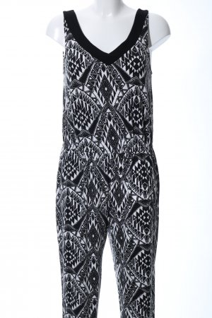 Best Connections Jumpsuit black-white abstract pattern casual look