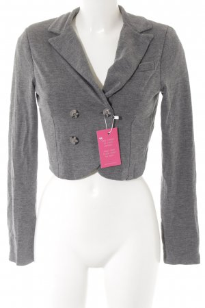 Best Connections Kurz-Blazer grau Webmuster Casual-Look