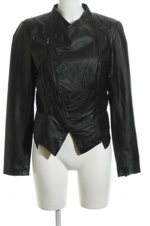 Best Connections Leather Jacket black casual look