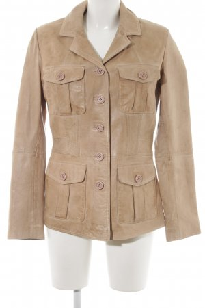 Best Connections Lederjacke beige Casual-Look