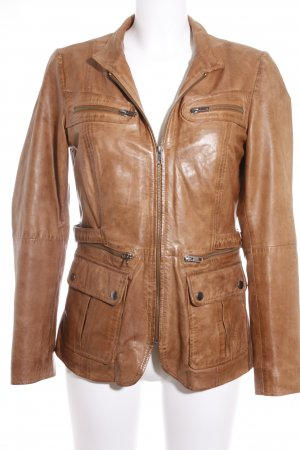 Best Connections Leather Jacket brown casual look