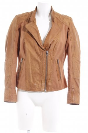 Best Connections Leather Jacket cognac-coloured casual look