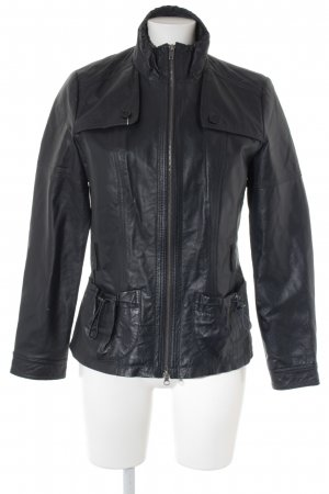 Best Connections Lederjacke dunkelblau Casual-Look