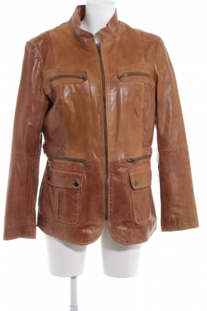 Best Connections Leather Jacket light brown casual look