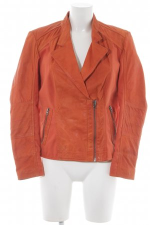 Best Connections Leather Jacket orange casual look