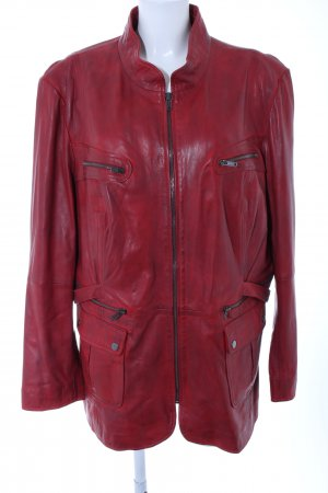 Best Connections Leather Jacket red casual look
