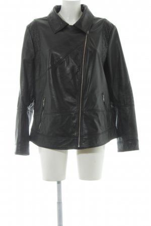 Best Connections Leather Jacket black biker look