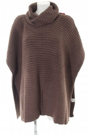 Best Connections Poncho brown striped pattern casual look