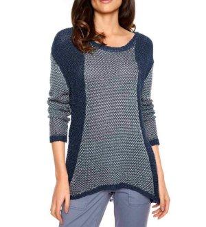 Best Connections Pullover Damen Strickpullover Pulli rose/grau 36/38