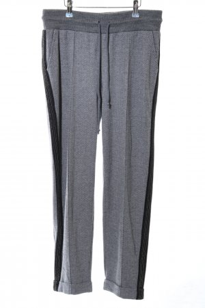 Best Connections Stoffhose hellgrau-schwarz Casual-Look