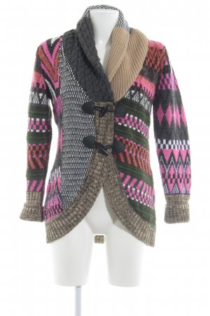Best Connections Strickjacke abstraktes Muster extravaganter Stil