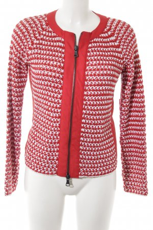 Best Connections Strickjacke rot-weiß Casual-Look