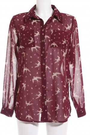 Best Connections Transparante blouse violet-beige volledige print