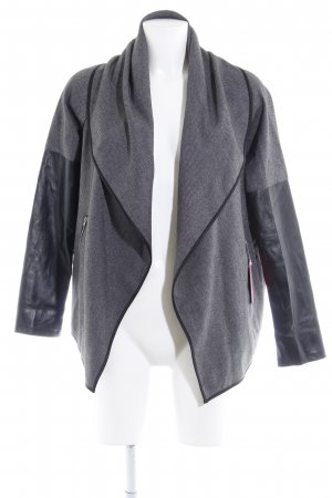 Best Connections Between-Seasons Jacket dark grey-black flecked elegant