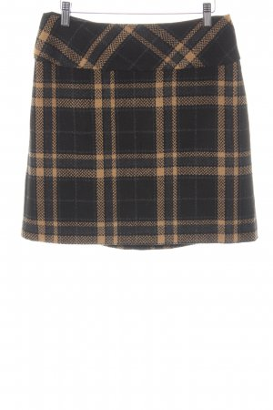 Best Connections Wool Skirt black-camel check pattern casual look