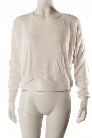 Best Emilie Croptop-Pullover Elbowpatches weiß